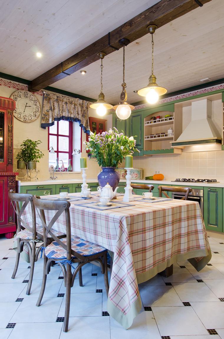 Фото № 49304 кухня  Загородный дом