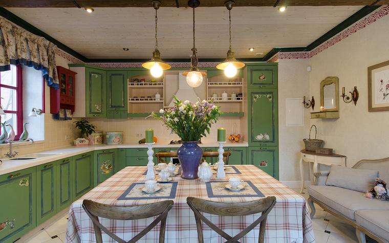 Фото № 49307 кухня  Загородный дом