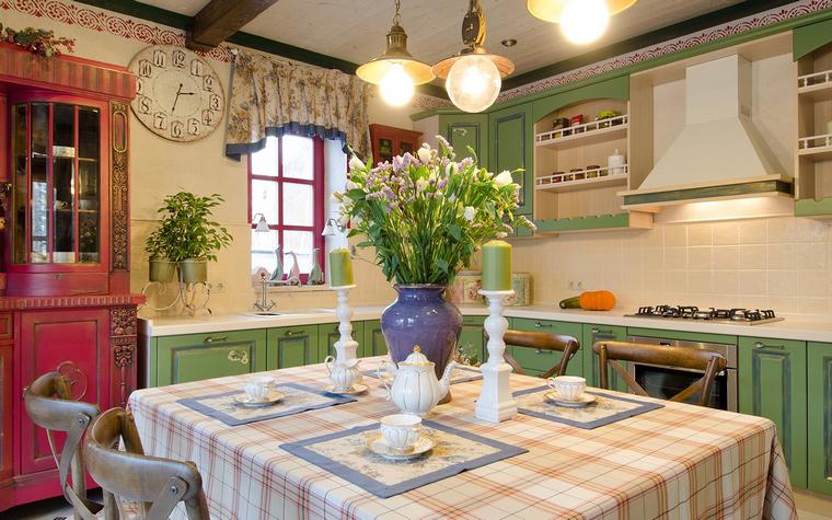 Фото № 49300 кухня  Загородный дом