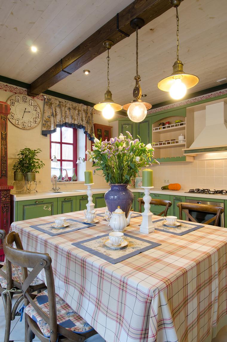 Фото № 49301 кухня  Загородный дом