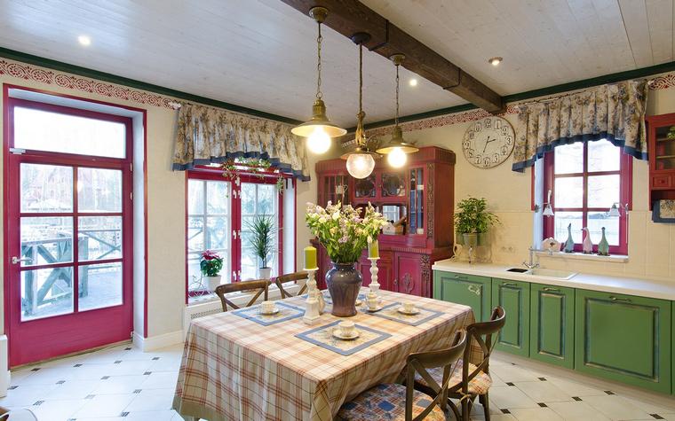 Фото № 49308 кухня  Загородный дом