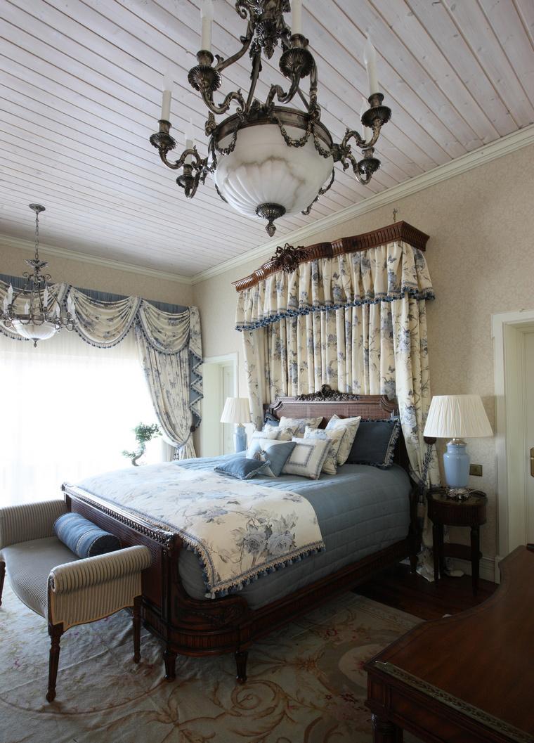 Фото № 49878 спальня  Загородный дом