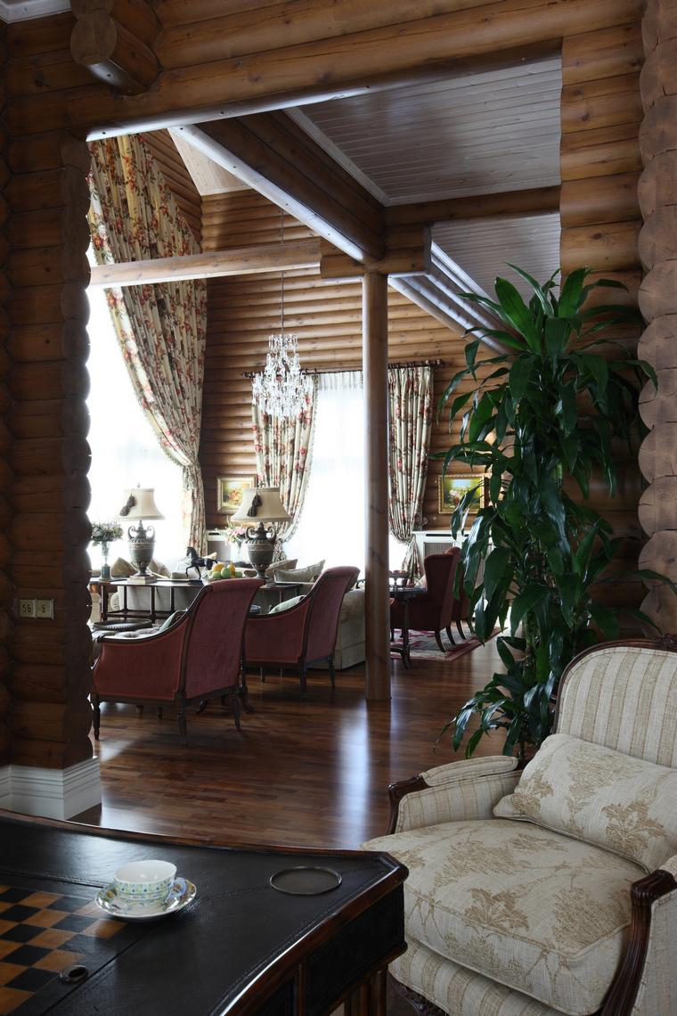 Фото № 49872 гостиная  Загородный дом