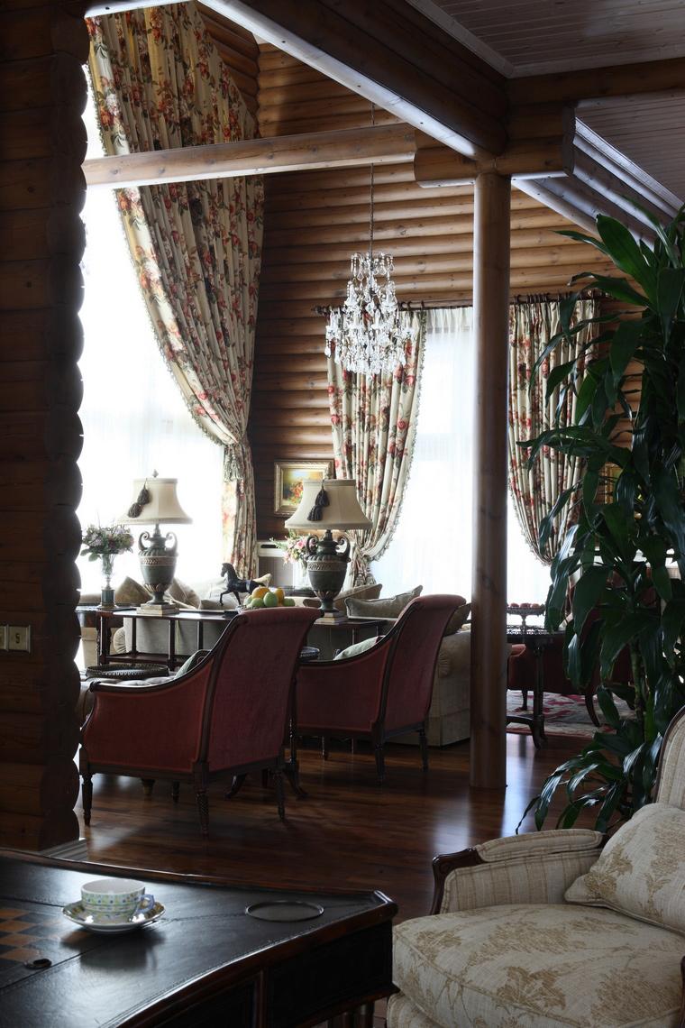 Фото № 49873 гостиная  Загородный дом