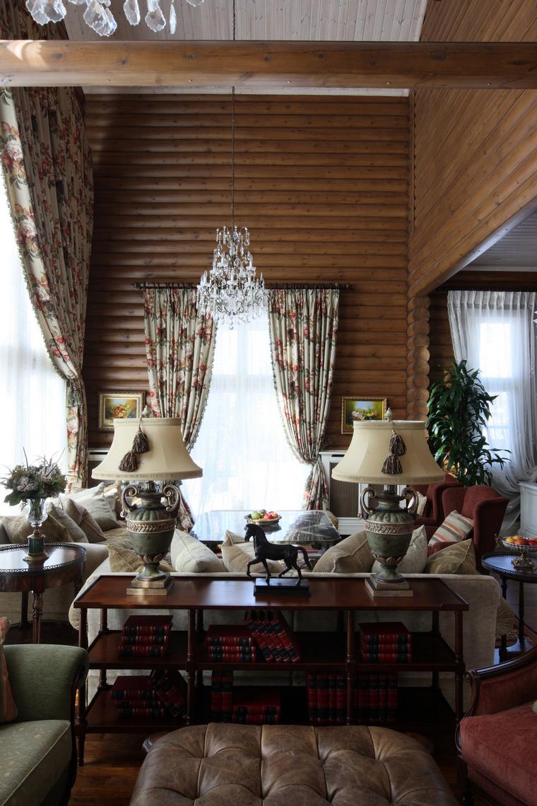 Фото № 49865 гостиная  Загородный дом
