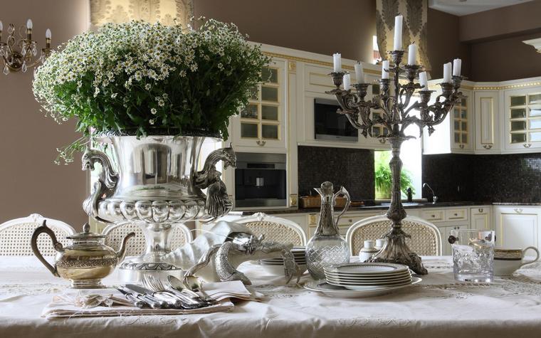 Фото № 49947 кухня  Загородный дом
