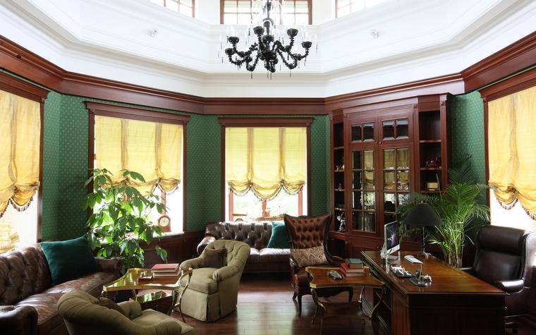 Фото № 49948 кабинет библиотека  Загородный дом