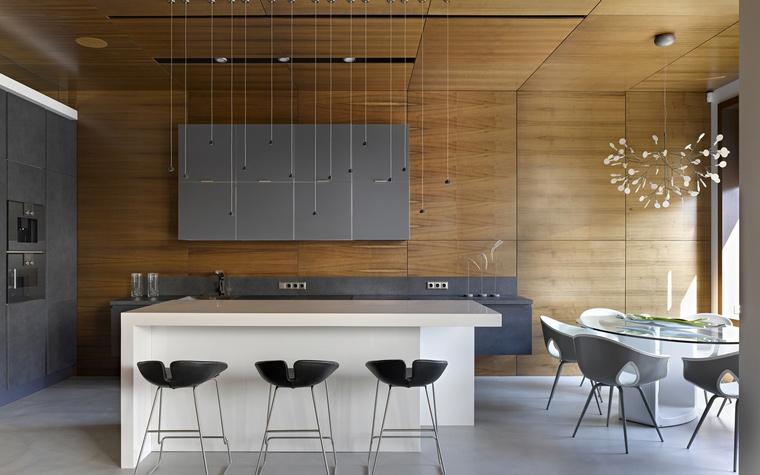 кухня столовая на даче фото