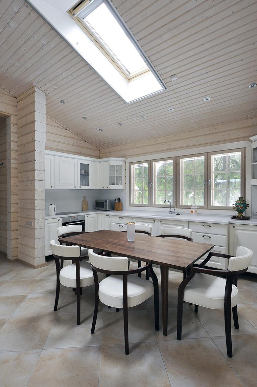 Фото № 50331 кухня  Загородный дом