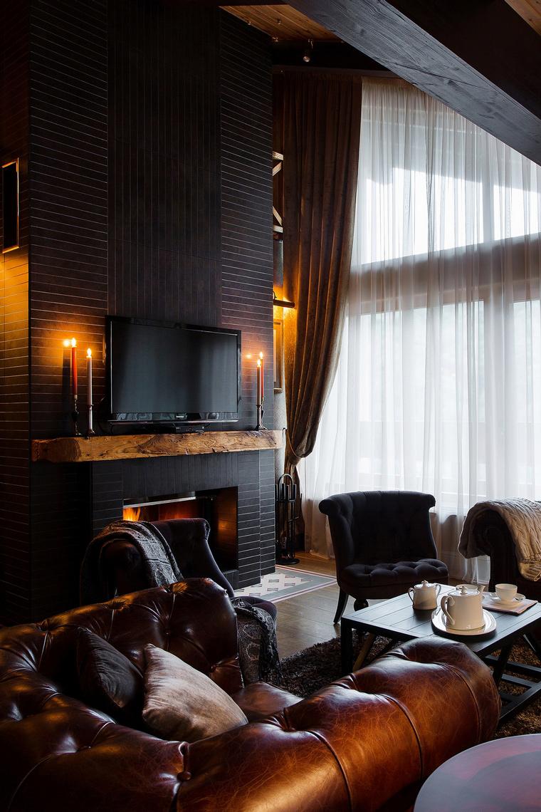 интерьер гостиной - фото № 50352