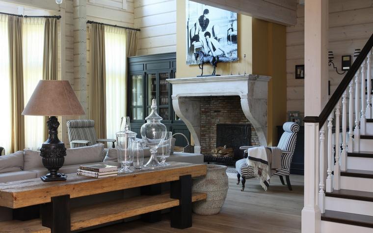 Фото № 52053 гостиная  Загородный дом
