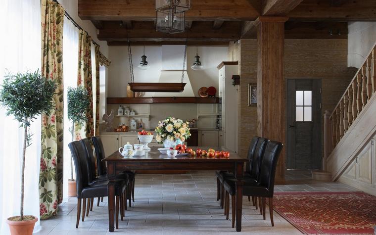 Загородный дом. столовая из проекта , фото №52138