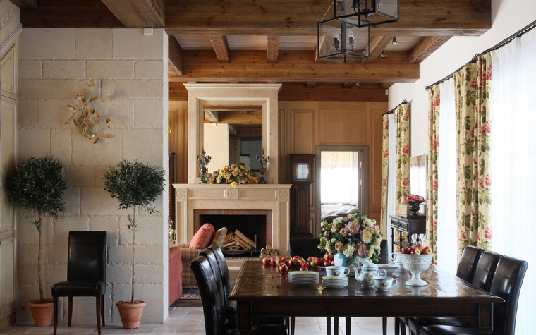 Загородный дом. столовая из проекта , фото №52140
