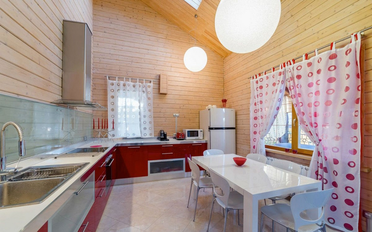 кухня-гостиная дизайн фото на даче
