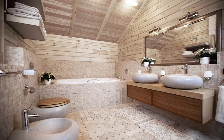 <p>Автор проекта: Станислав Орехов</p> <p>Деревянный потолок в каменном декоре - очень хорошо!</p>