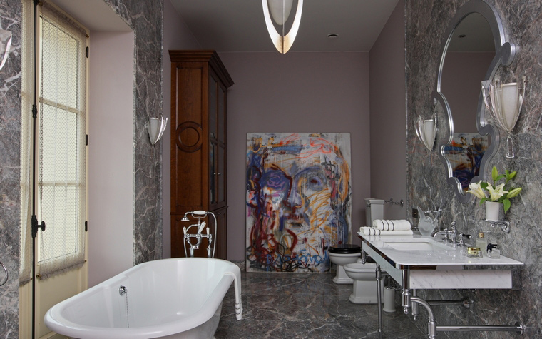 Загородный дом. ванная из проекта , фото №53065