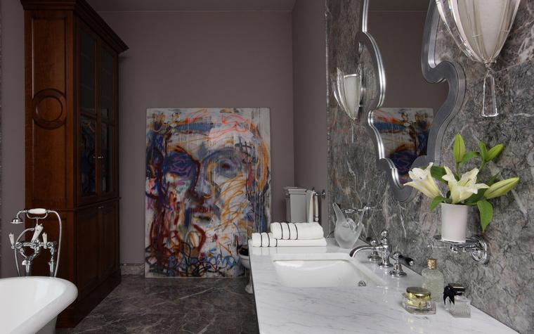 Загородный дом. ванная из проекта , фото №53066