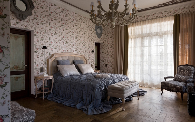 Фото № 54875 спальня  Загородный дом