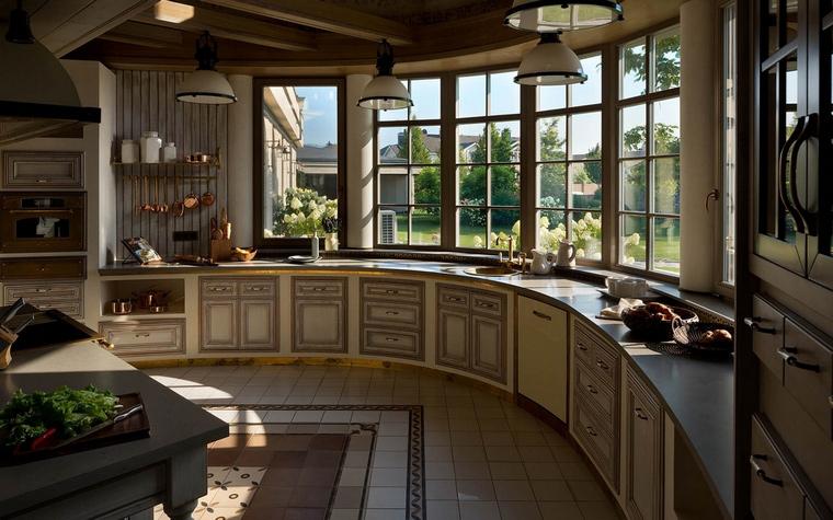 Фото № 54867 кухня  Загородный дом