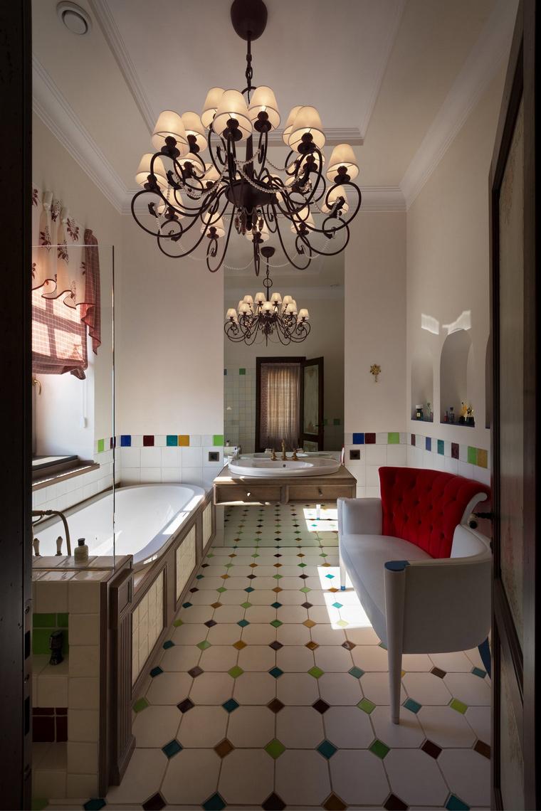 Фото № 54870 ванная  Загородный дом