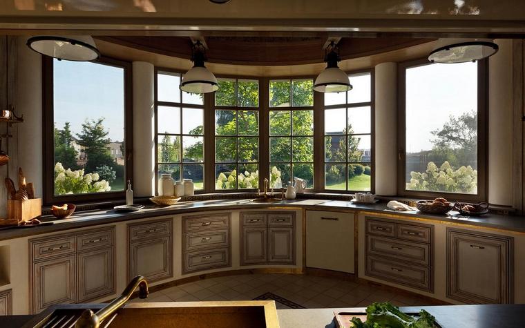 Фото № 54866 кухня  Загородный дом