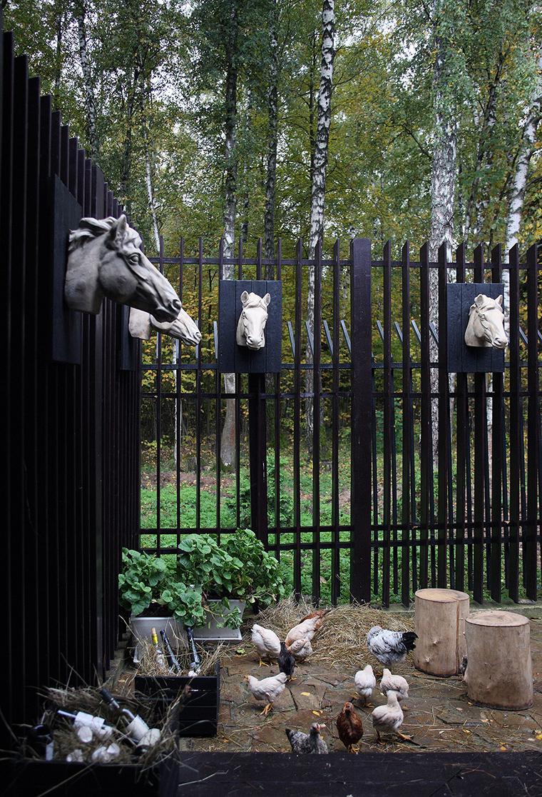 Фото № 55441 ограда забор  Загородный дом