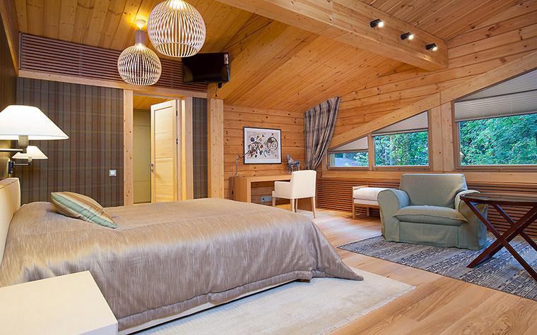 Загородный дом. спальня из проекта , фото №55818