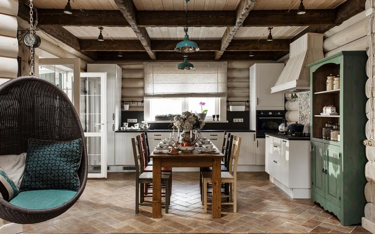 <p>Автор проекта: I.D. Interior Design<br /> Фотограф: Кирилл Овчинников Кирилл</p> <p>Открытые балки потолка - это стильно, это модно. </p>