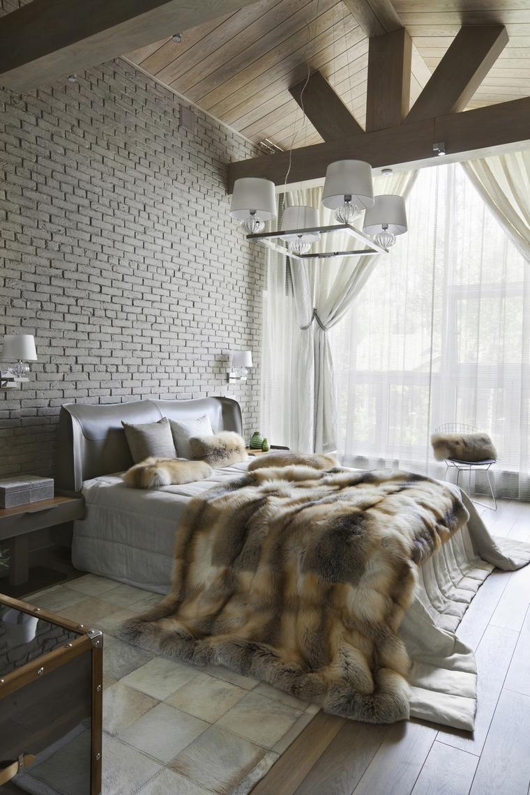 Загородный дом. спальня из проекта , фото №57196