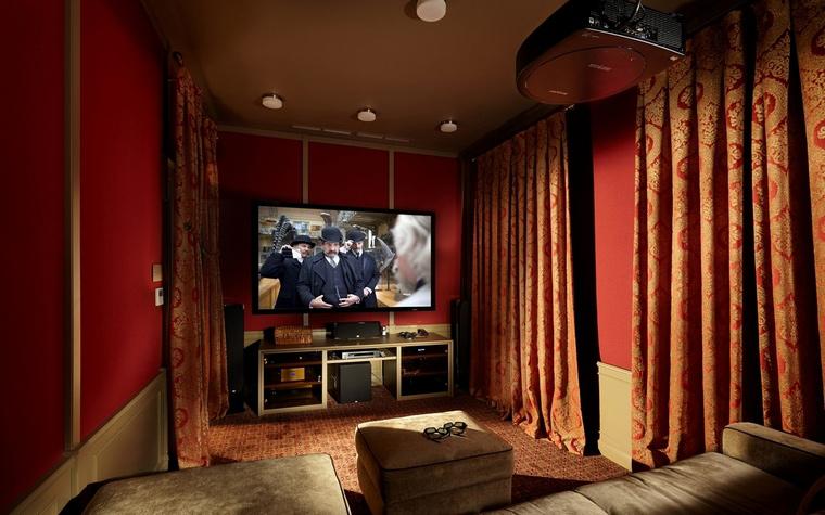 Загородный дом. домашний кинотеатр из проекта , фото №57229