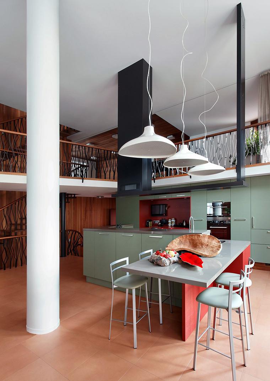 Фото № 57358 кухня  Загородный дом