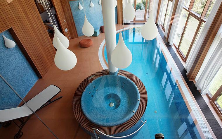 Загородный дом. бассейн из проекта , фото №57361