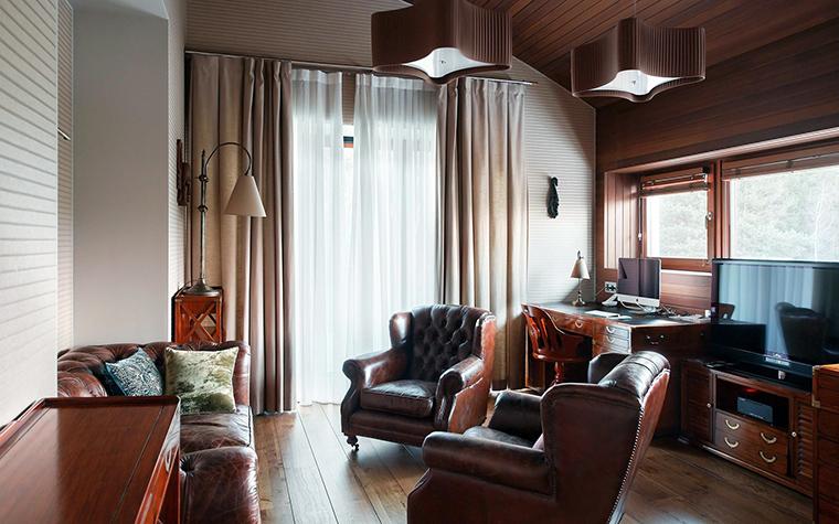Загородный дом. кабинет из проекта , фото №57365