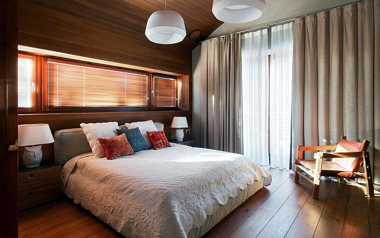 Загородный дом. спальня из проекта , фото №57366