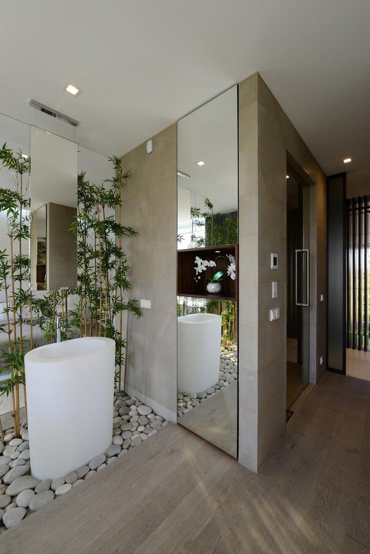 Загородный дом. ванная из проекта , фото №57534