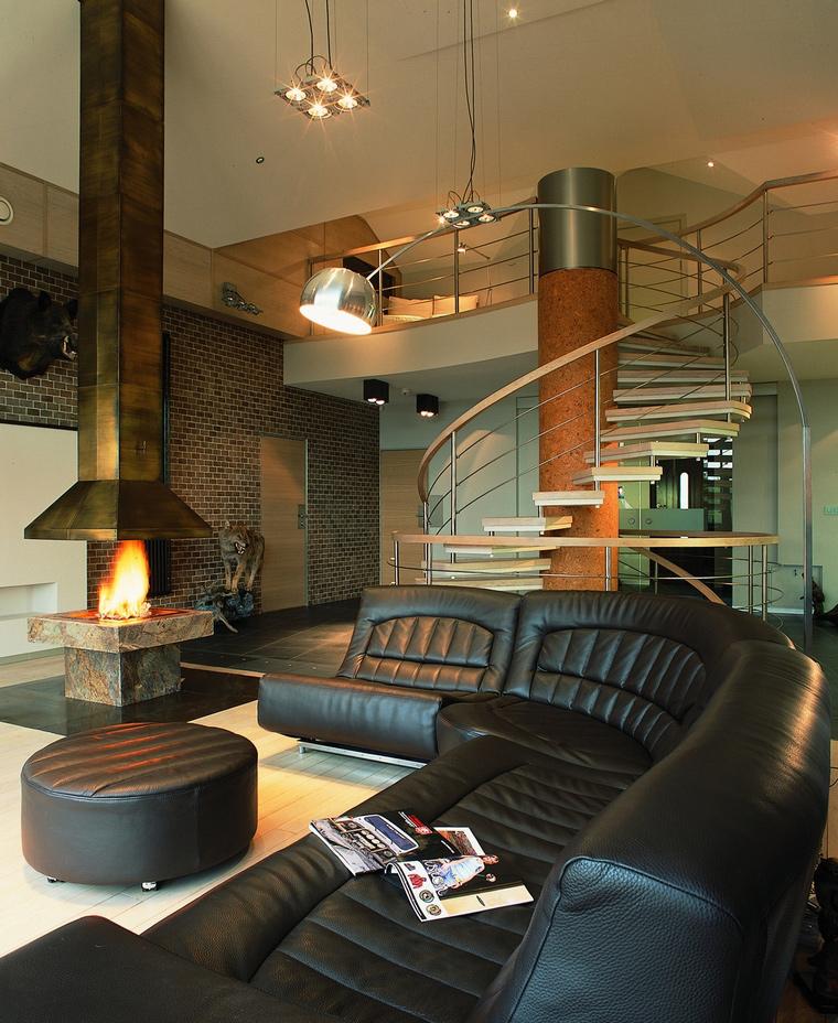 Загородный дом. гостиная из проекта , фото №60470