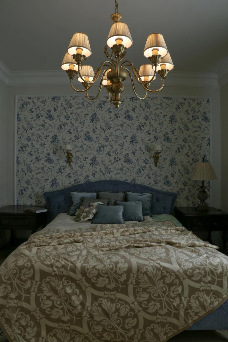 Фото № 60980 спальня  Загородный дом