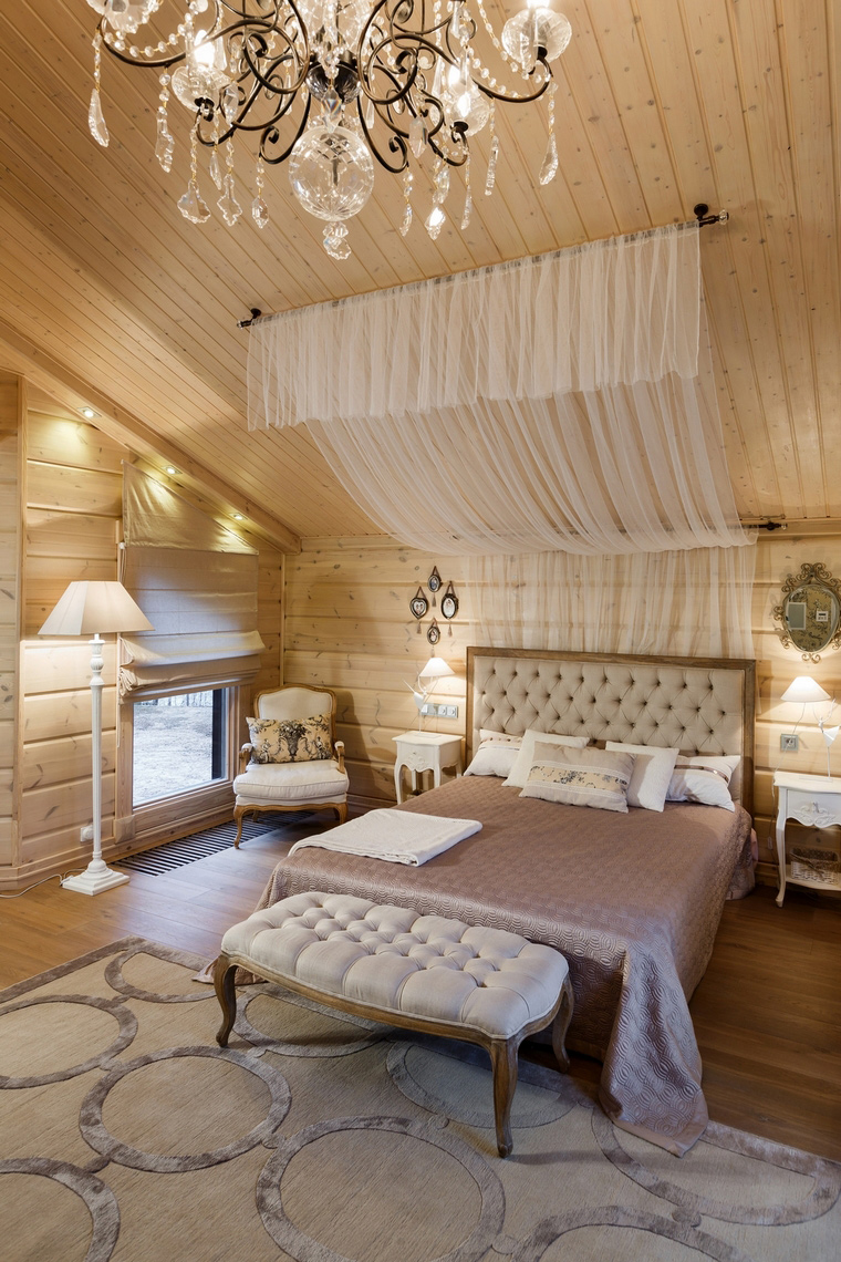 Фото № 61135 спальня  Загородный дом