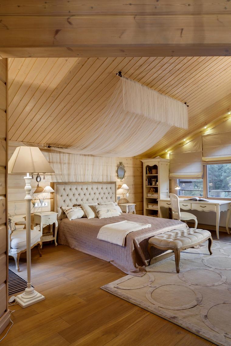 Фото № 61138 спальня  Загородный дом