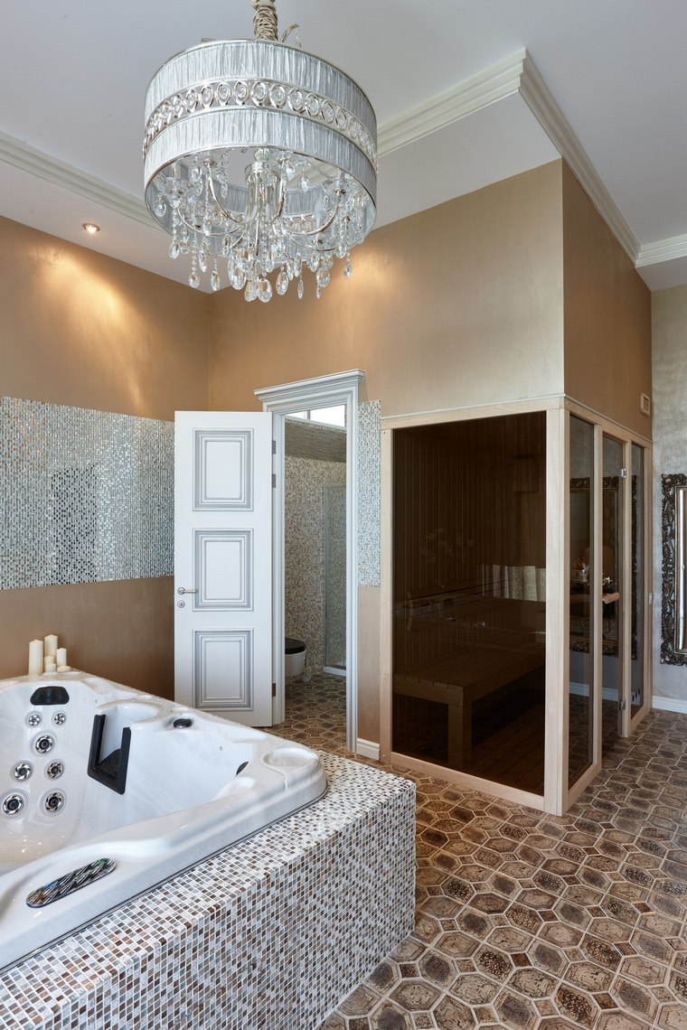 Фото № 62550 ванная  Загородный дом