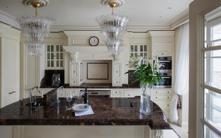 Фото № 63409 кухня  Загородный дом