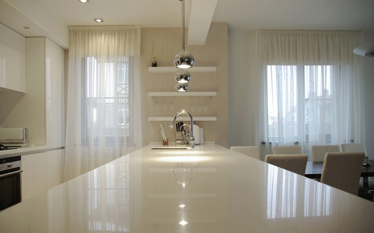 Фото № 64380 кухня  Загородный дом