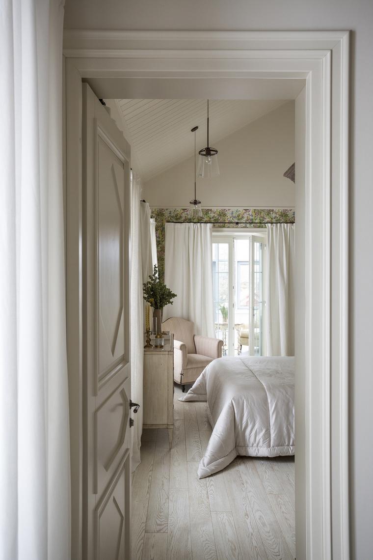 Фото № 64670 спальня  Загородный дом