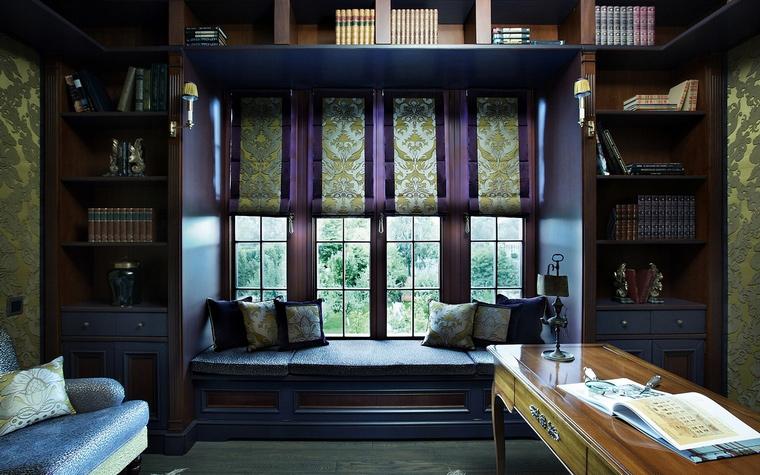 Фото № 65267 кабинет библиотека  Загородный дом