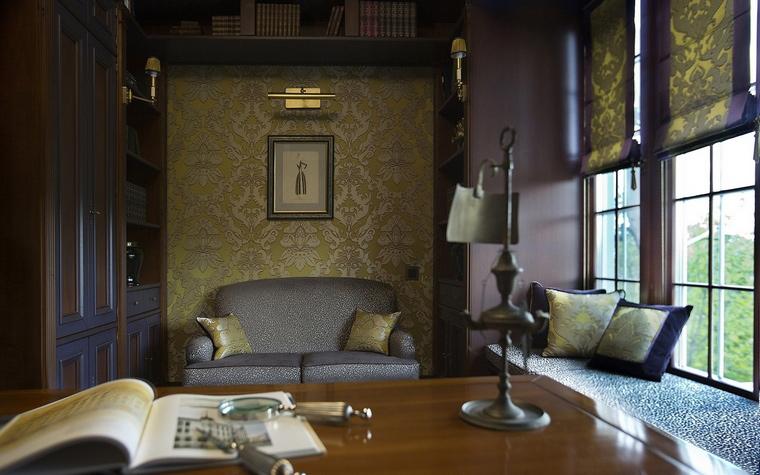Загородный дом. кабинет из проекта , фото №65268