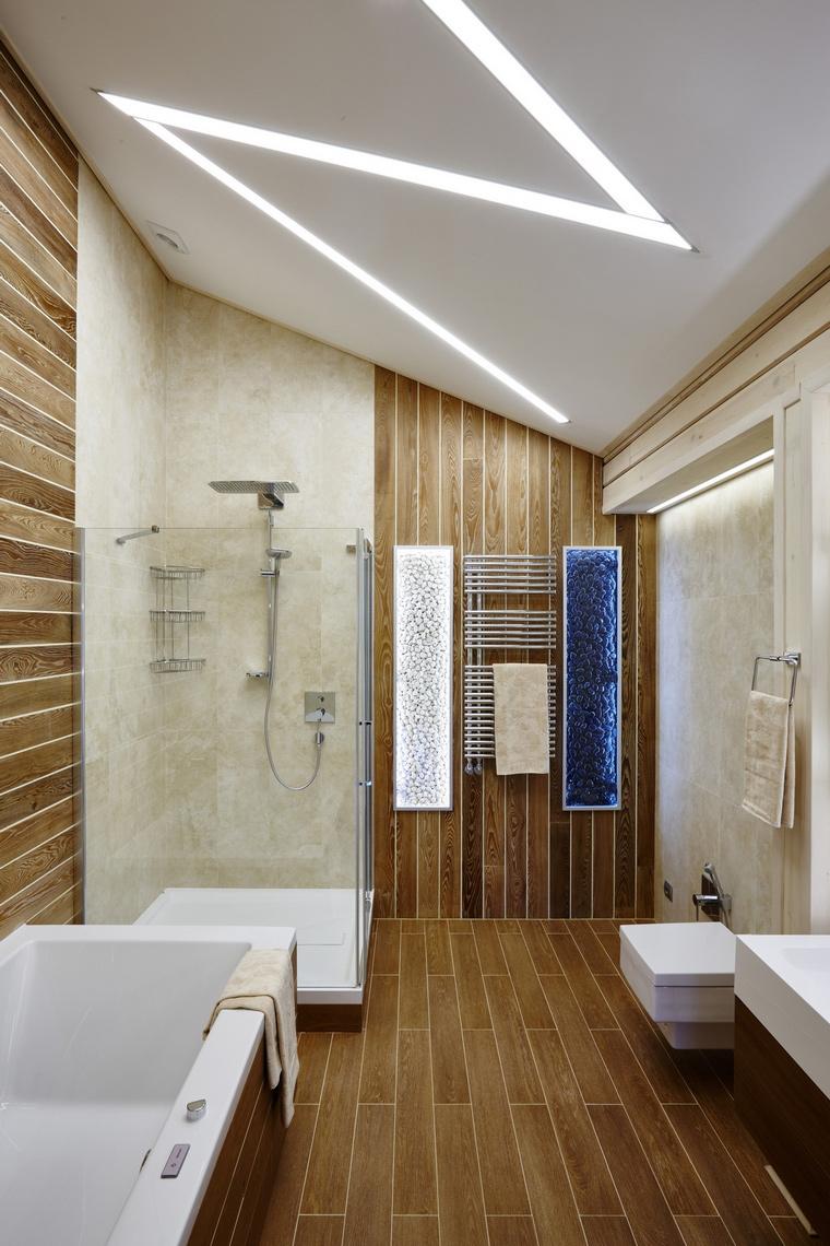 Фото № 65624 ванная  Загородный дом
