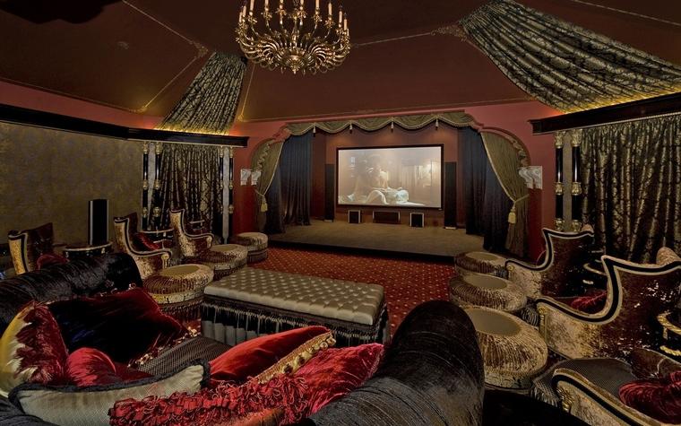 Загородный дом. домашний кинотеатр из проекта , фото №66790