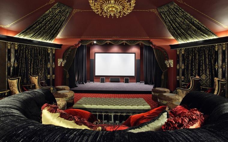 Загородный дом. домашний кинотеатр из проекта , фото №66791