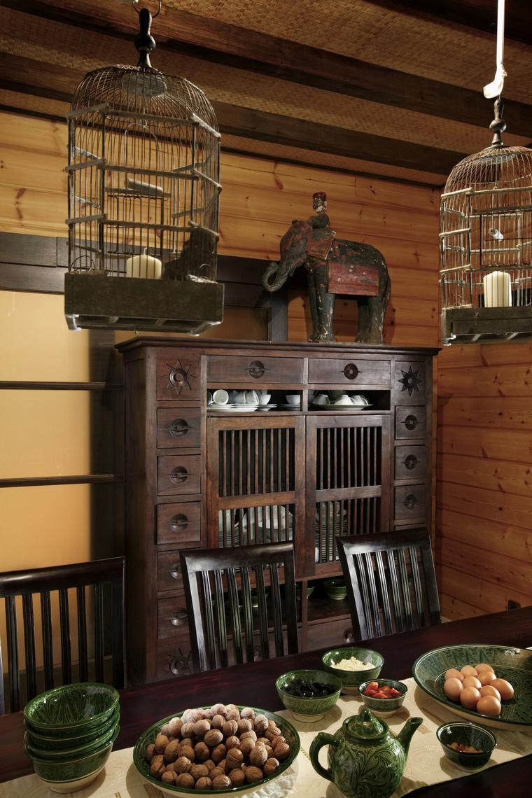 Фото № 66867 кухня  Загородный дом
