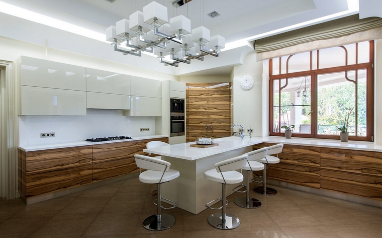 Фото № 68194 кухня  Загородный дом